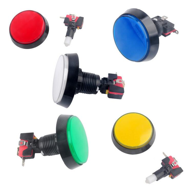 1pc 60mm LED Light Big Round Arcade Video Game Player Push Button Switch Lamp SK