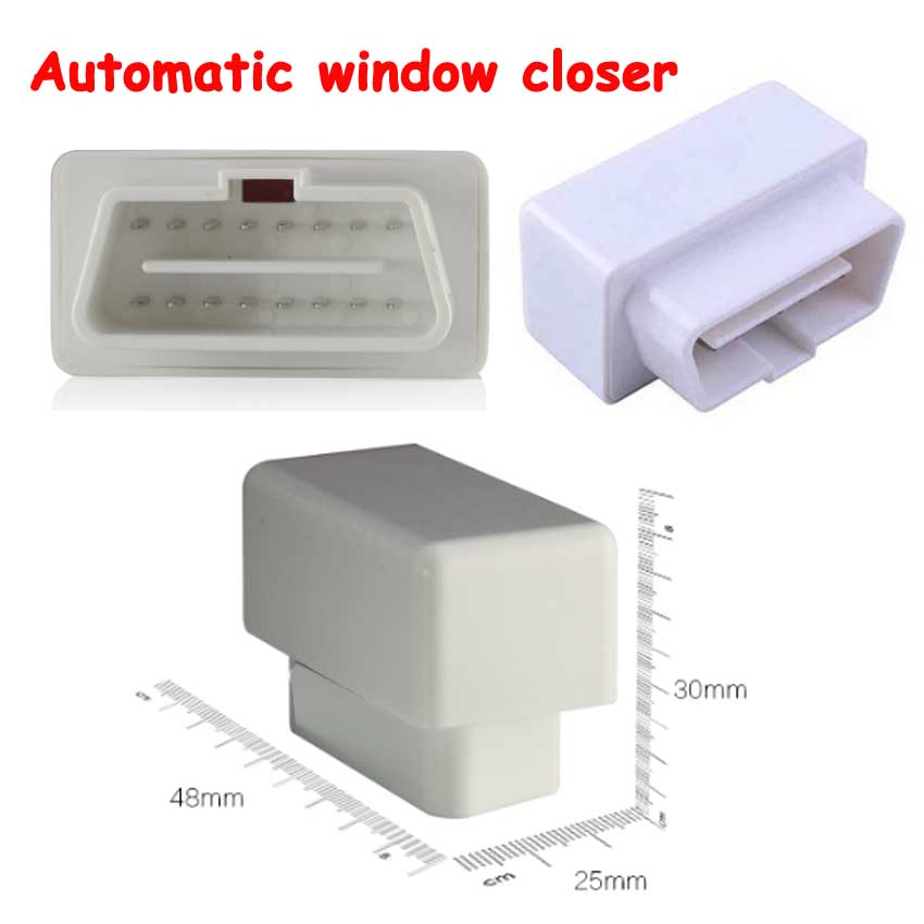 OBD 16pin Auto Power Window Roll up Closer for 4 Doors Auto Close Windows Car Alarm Module for Passat 12-15 years Mirror Folding