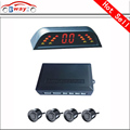 Car LED Parking Sensor Monitor Auto Reverse Backup Radar Detector System + LED Display + 4 Sensors 5 colors to choose wholesale