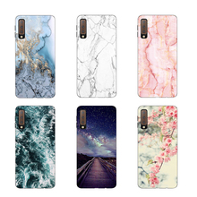 TPU Cover sFor Samsung A7 2018 Case Matte Silicone Back Print Case sFor Samsung Galaxy A7 2018 A 7 A750 A750F Mobile Case Bumper