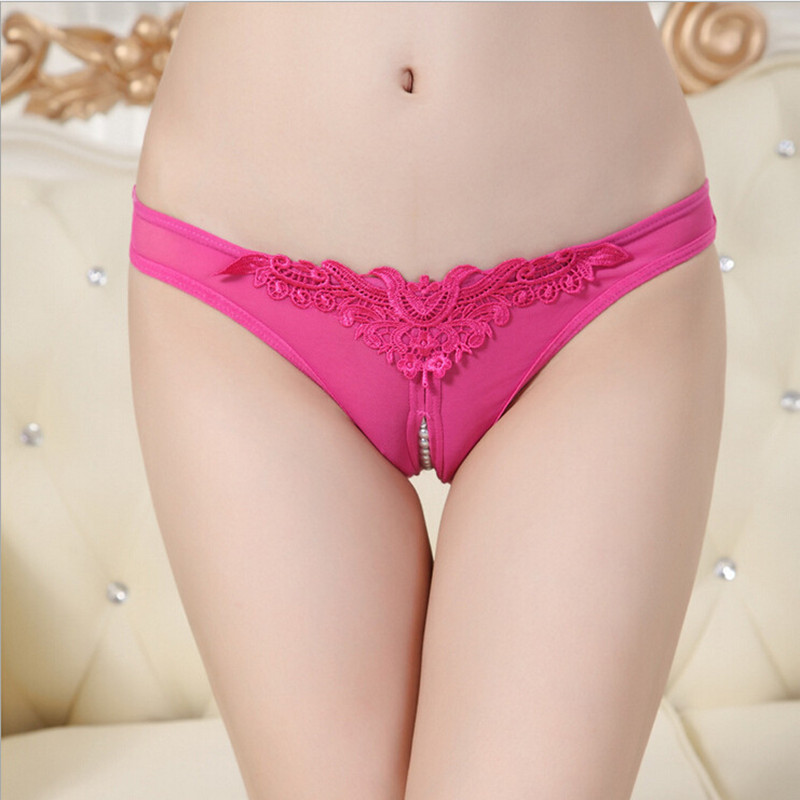 New Low Waist Panties Lace G Strings Plus Size Women Sexy Underwear Pearl Sexy Panties Briefs Lingerie Tanga 5 Colors