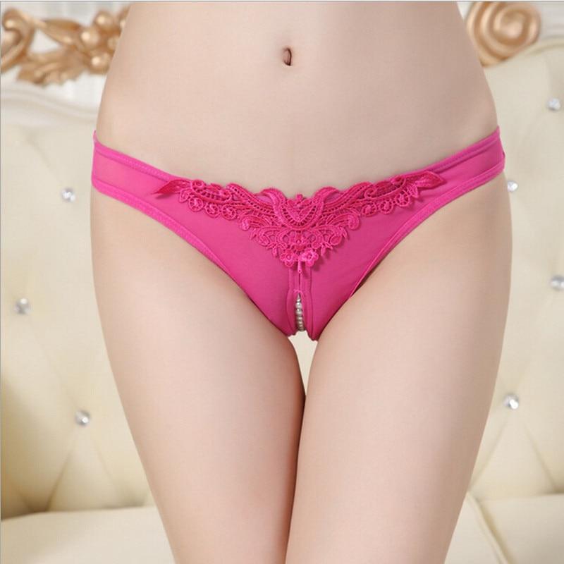 新しいローウエストパンティーレースGストリングプラスサイズの女性のセクシーな下着パールセクシーなパンティーブリーフランジェリータンガ5色