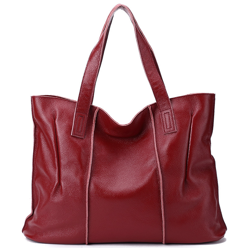 Luxury Brand Designed Genuine Leather Women Handbag Large Capacity Female Tote Bag Solid Casual Leather Bags Women Zipper luxury designer genuine leather women bag brand fashion cow leather handbag shoulder bags large capacity solid casual tote 2018