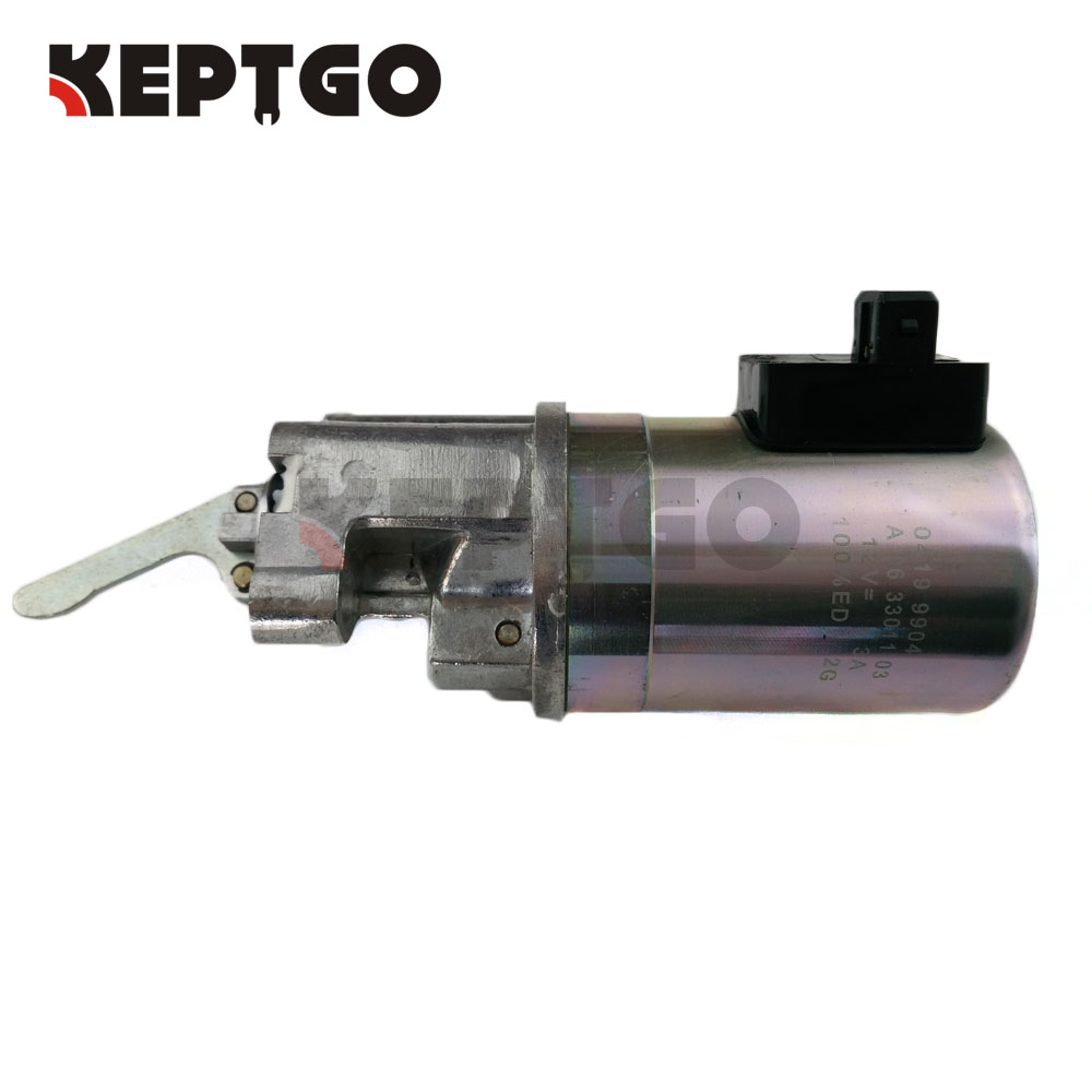12V Fuel Shutdown Solenoid 0419 9904 For Deutz BF6M2012 BF4M2012 3924450 2001es 12 fuel shutdown solenoid valve for cummins hitachi