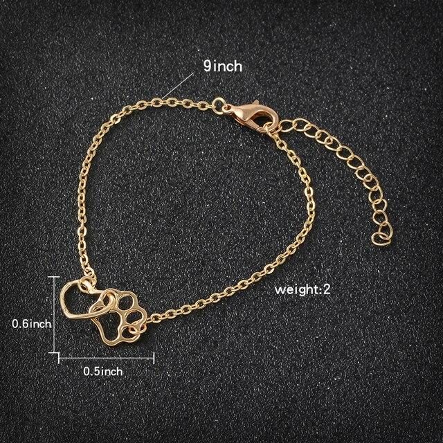 Dog Paw Heart Bracelet  2