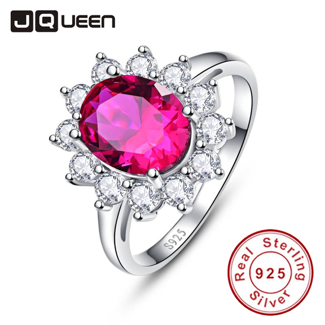 100% Real Pure Flower Engagement Ring Oval Cut Red Ruby 925 Sterling Silver Engage Ring Finger Decoration Jewelry Size 6 7 8 9