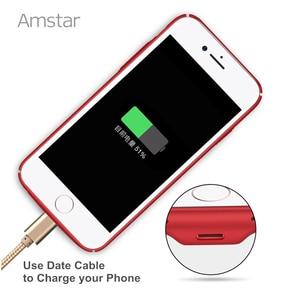 Image 3 - Amstar kablosuz şarj alıcı kutusu kapak Qi kablosuz şarj vericisi kapak Qi alıcı telefon kılıfı için iphone 7 6S 6 artı
