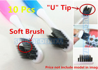 10 Pcs Orthodontic Brush Dental Tooth Brush U Trim Soft Brush Deep Clean Interdental Brush Oral C