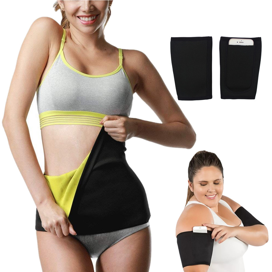 1 Pair Women Body Shaper Belt Arm Sleeve New Waist Trainer Slimming Belt Modeling Strap Corset Sweat Sauna Arm Warmers Shapewear
