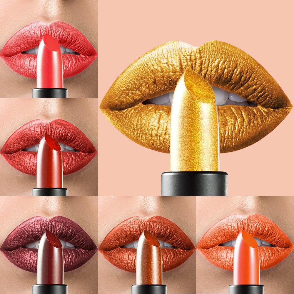 HUAMIANLI Brand 1 Pcs Metallic Lipstick Women