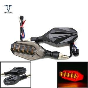 Image 1 - Evrensel motosiklet modifiye dönüş sinyalleri ışık Süper parlak su geçirmez led Direksiyon lambası