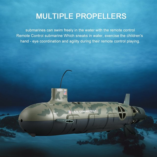 Rc Submarine 13000 Uss Seawolf Remote Control Toy 6 Channel