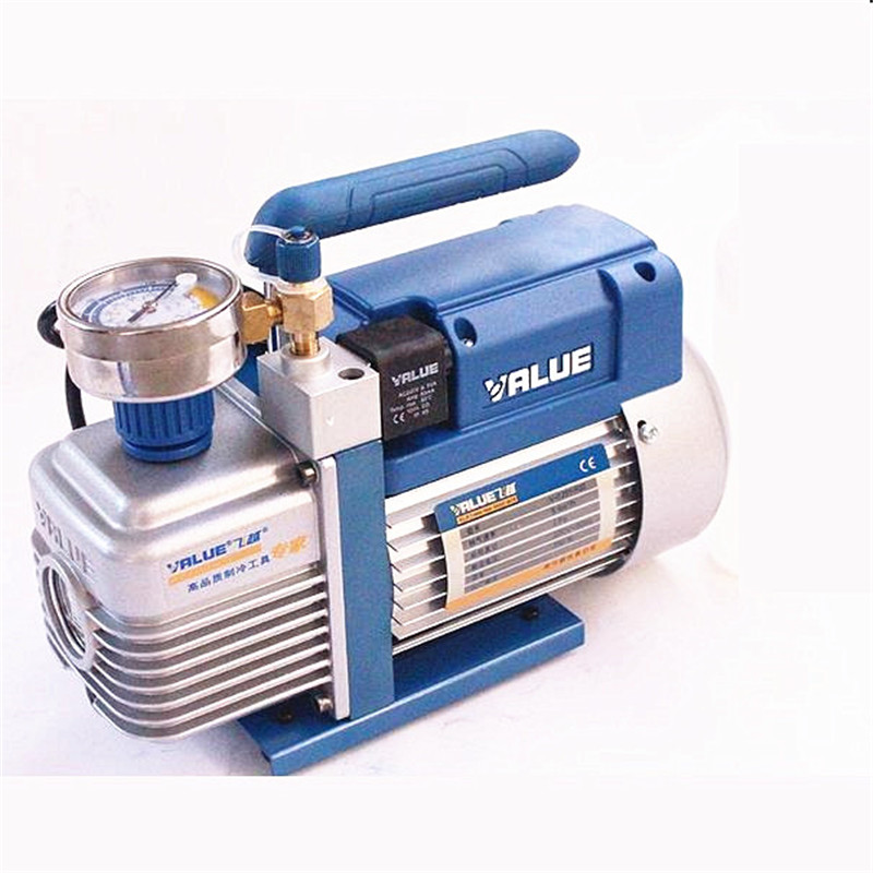 220V 180W R32 special new refrigerant vacuum pump single-stage air pump air conditioning and refrigeration tools V-I125Y-R32 hs 1221 hs 1222 r410a refrigeration charging adapter refrigerant retention control valve air conditioning charging valve