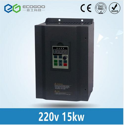 15KW 220V single phase input and 380V 3 phase output ac motor drive/frequency inverter