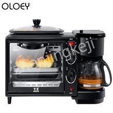 Многофункциональная машина для завтрака, домашняя кофейная печь, тостер, 220 В, три в одном, машина для завтрака