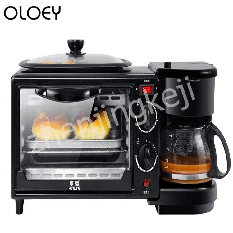 Machine de petit-déjeuner multifonction maison trois-en-un café four grille-pain 220V trois-en-un petit-déjeuner Machine