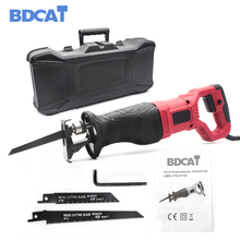BDCAT 220V 750W Multi-function Electric Saw Reciprocating Saw Power Tool Wood Metal Electric Trimmer Woodworking Tools 2 Blades цена и фото