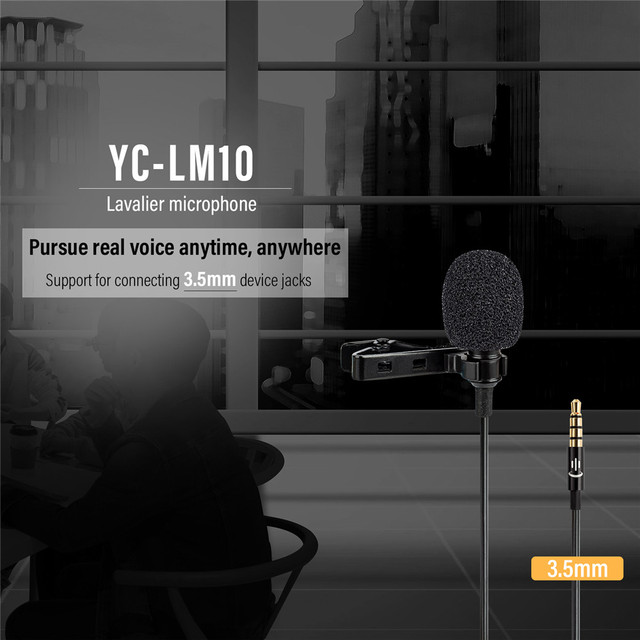Lavalier lapel microphone condenser video mic