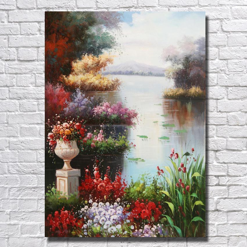 New Design Beautiful Sealandscape Home Decoration Wall Picture Acrylic Painting Palette Knife Handpainted Art No framed