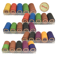 New Arrival 200 Poker Chips 1 Deck Of Playing Cards 1 Poker Table Cloth 2 Blinds