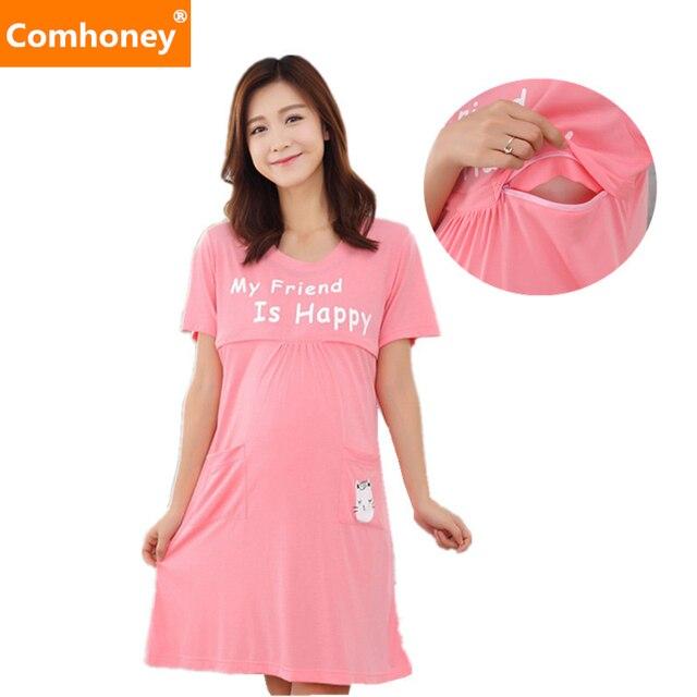 7f7d6d699f05 Maternity Nursing Dresses Breast Feeding Clothes for Pregnant Women  Pregnancy Breastfeeding Clothing Women Maternity Sleepwear