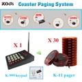 Sistema de Pager Coaster de auto-atendimento restaurante sistema de campainha de mesa KOQI marca 433 mhz carregador de bateria sistema de filas