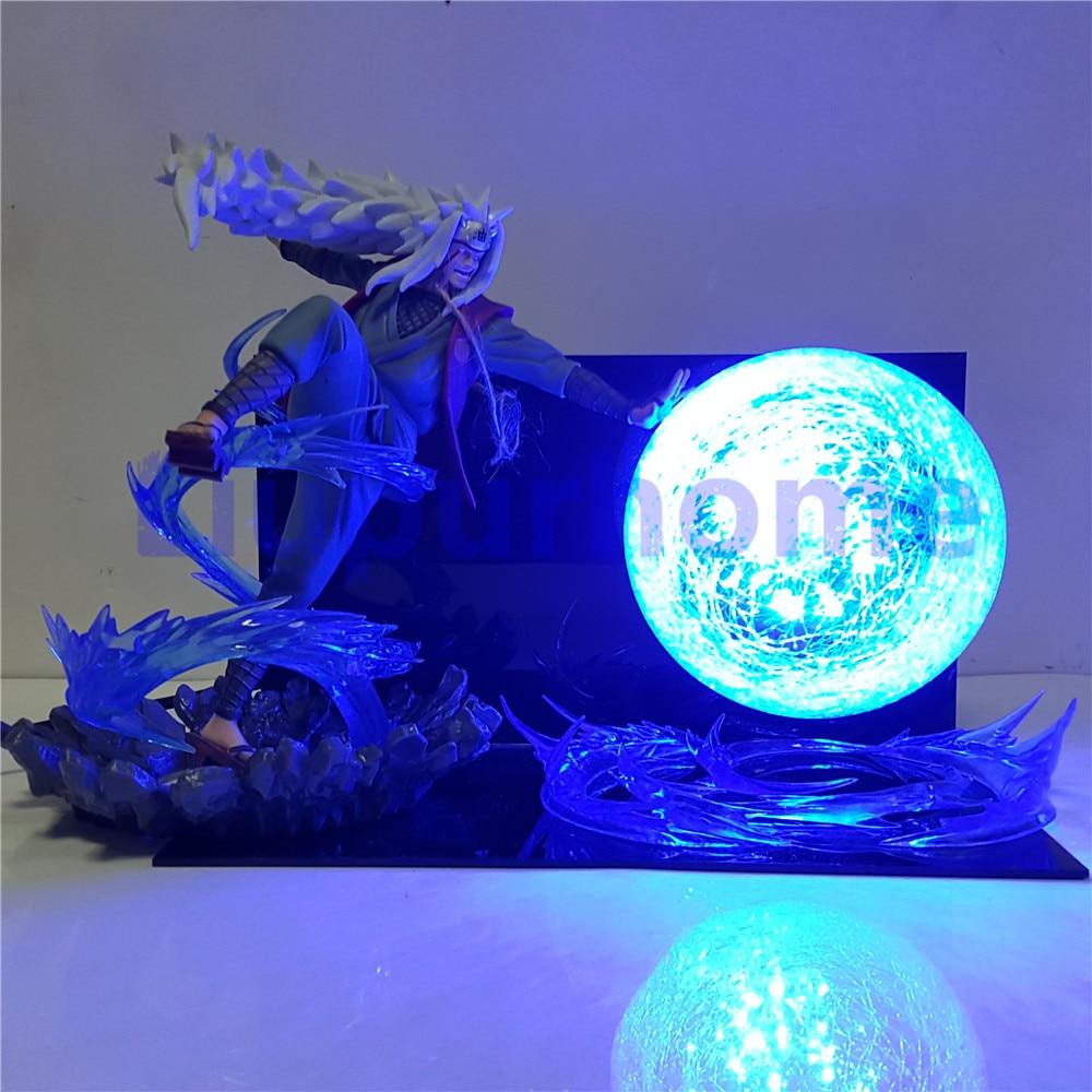 Naruto Action Figure Jiraiya Rasengan Led Scene Model Toys Anime Naruto Shippuden figuras coleccion US EU plug decor light lamp лоферы la coleccion la coleccion la060awvci84