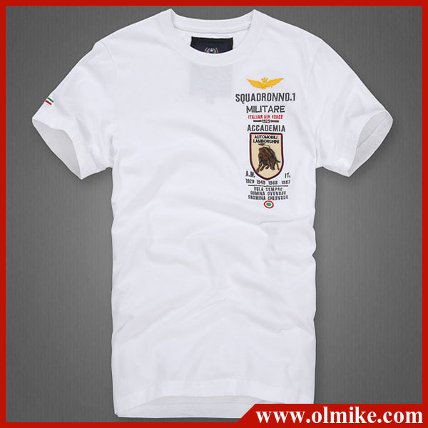 2013 summer men 39 s brand cotton t shirt embroid air force for T shirt brand logo