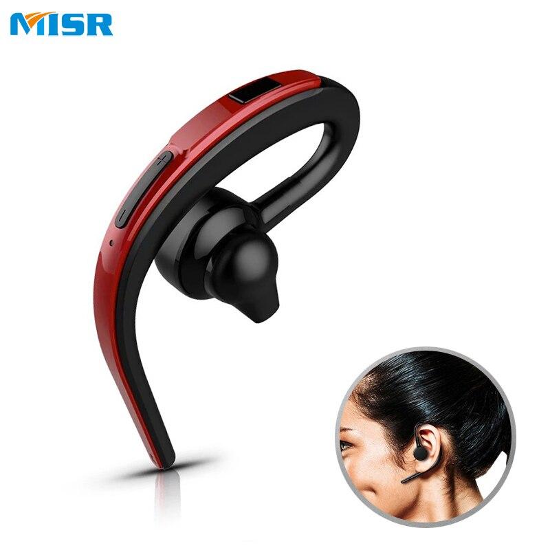 MISR SW26 Unique Crochet D'oreille Bluetooth Écouteur Casque Mains Libres Mic Microphone pour Téléphone De Voiture Pilote Sans Fil Casque D'affaires