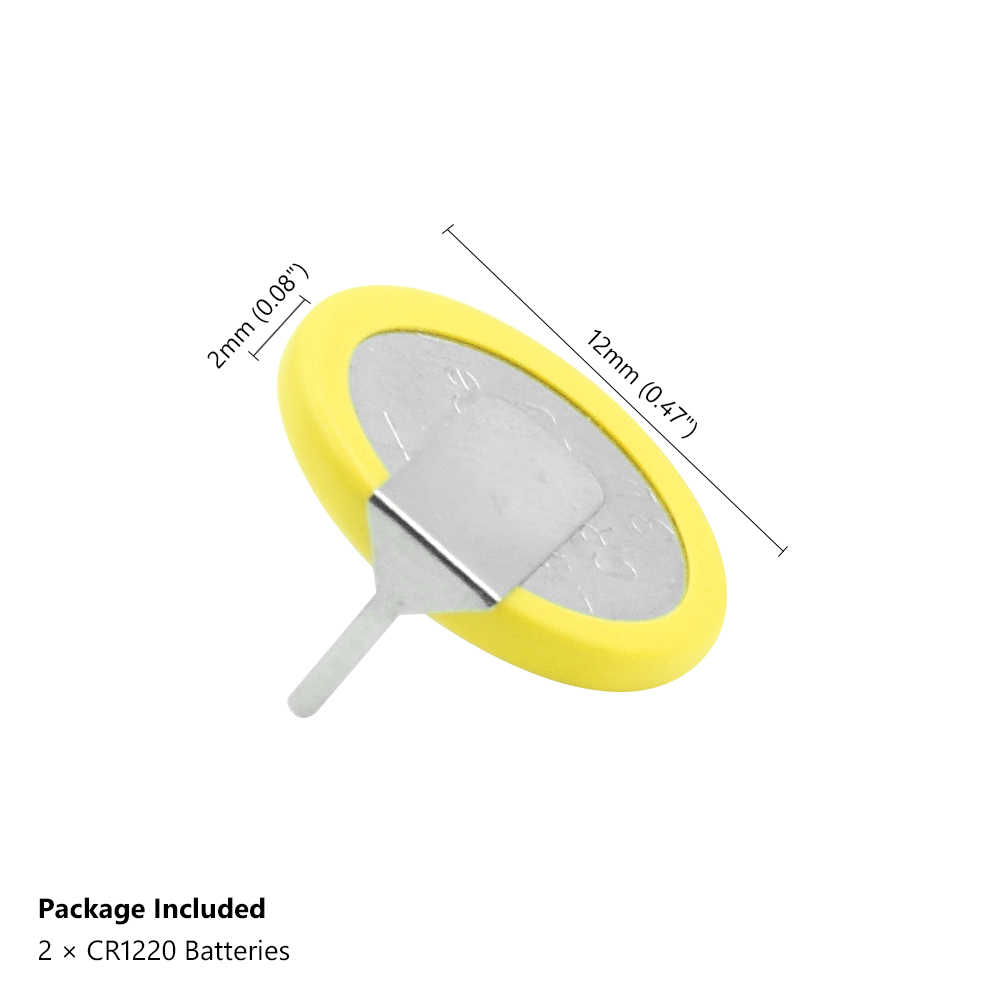2pcs สีเหลือง + เงินบัดกรีแบตเตอรี่ CR1220 แบตเตอรี่ 2 แท็บ SOLDER Pins สำหรับบอร์ดหลักของเล่นรีโมทคอนโทรล