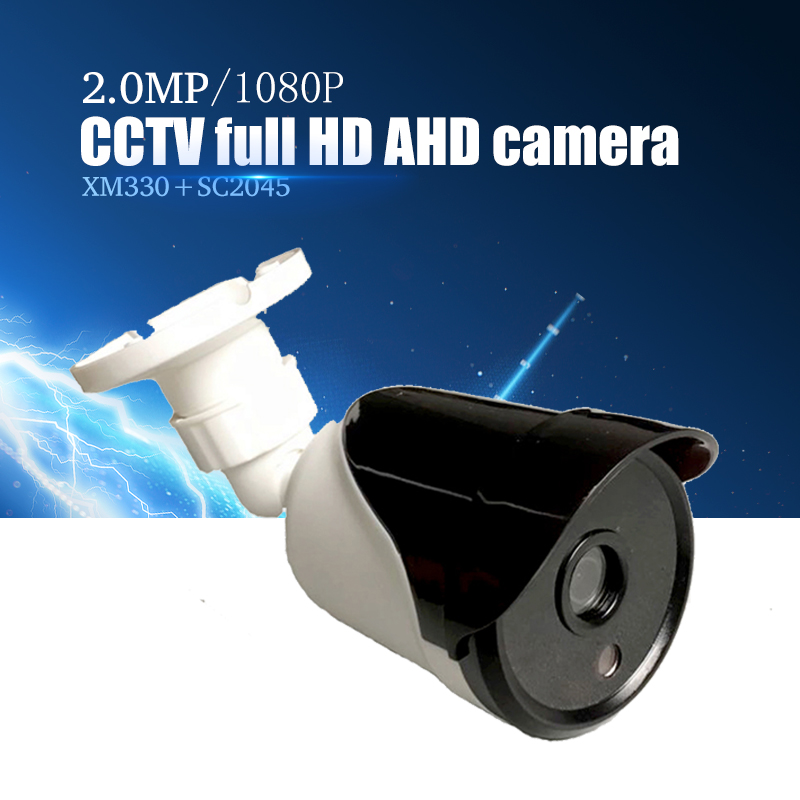 YiiSPO AHD 1080P bullet Camera 2.0MP analog Camera outdoor waterproof Night Vision 3.6mm XM330+SC2045 CCTV security camera AHD wistino cctv camera metal housing outdoor use waterproof bullet casing for ip camera hot sale white color cover case