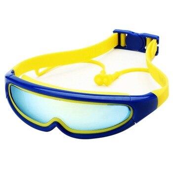 b54c2aada2 Gafas de natación de protección de silicona para niños, gafas Anti-niebla,  lentes de natación para niños, gafas de natación con tapones para los oídos  de la ...