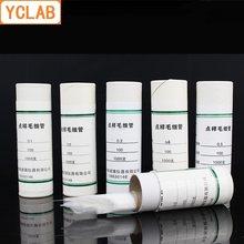 Ykab – Tube en verre échantillon de Point capillaire, longueur 1000mm et diamètre interne 100/0.1/0.2/0.3/0.4mm, 0.5 pièces (cadeau une tête en Latex rouge)
