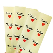 100pcs/lot 'Thank You' Red Heart Round Seal Label Sticker PVC Transparent Stickers For DIY Gift Handmade Product Package Label цена