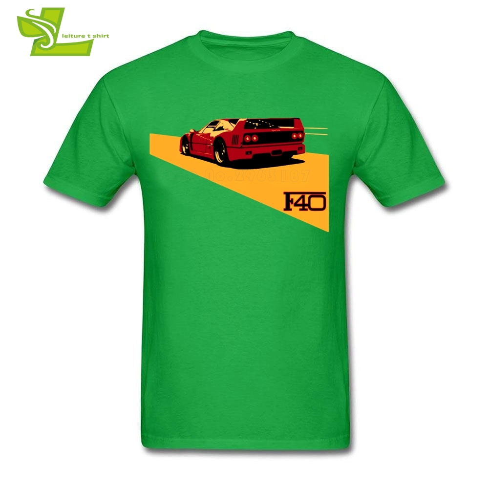F40 T Shirt Man Summer Crew Neck Personalized Tee Adult New Arrival Plus Size Top Home Wear Summer Loose Dad Tee Shirt CAR RALLY