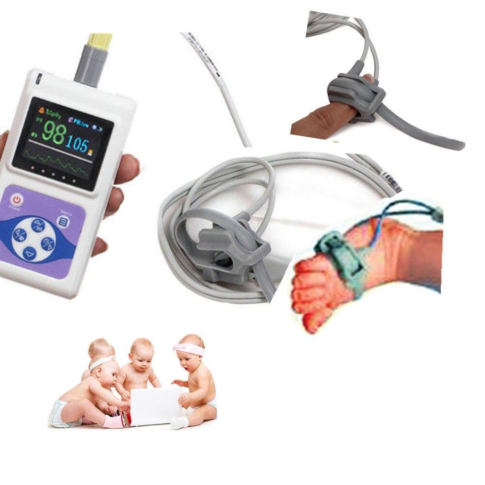 Spo2 CMS60D Pediátrica Neonatal Infant Crianças Oxímetro de pulso CONTEC Monitor 24 Hora de Software para PC