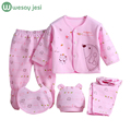 Baby Boy Clothing Set 2pcs Suits Coat Bodysuit Pants Cotton Long Sleeve autumn Winter infant newborn baby girl clothes outfits