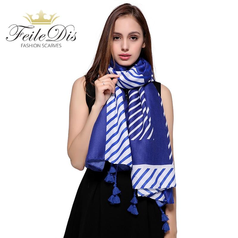 [FEILEDIS]2017 Fashion Cotton scarf Women Wrap Designer Scarves Autumn And Winter Women scarf luxury brand shawl FD376