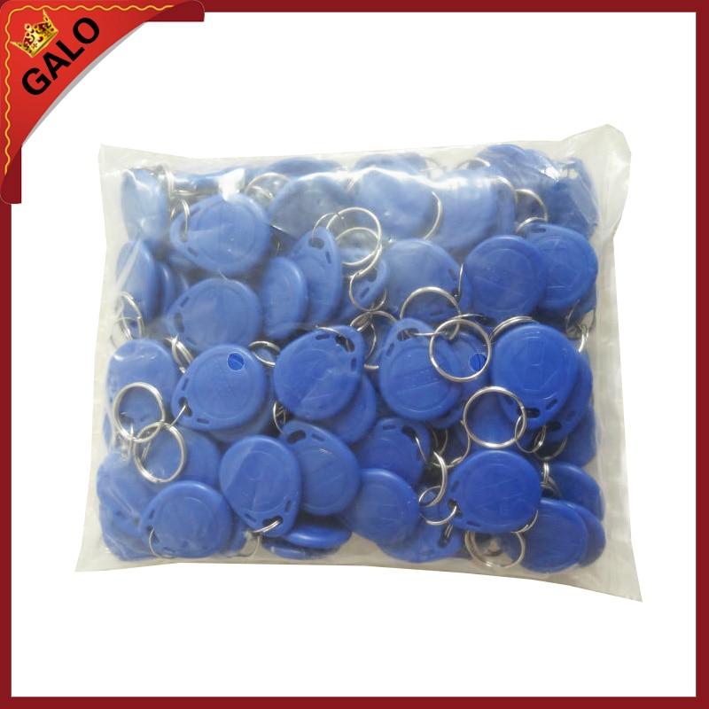 100 stucke 125 Khz RFID Nahe Keyfobs Ring Access Control-Card Rfid Rot Gelb Blau Tags