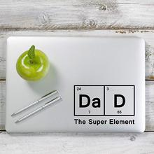 Graphics Dad The Super Element Periodic Table Inspired Decal Sticker for Car Window, Laptop and More.