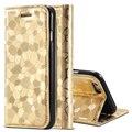 For Apple iphone 5 5S SE Flip Bling Cobblestone Leather Case Wallet Girl Woman Stand Holder Matte Phone Cover i5 5S SE Card Slot