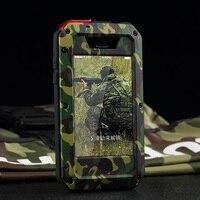 Для iphone 5S SE 6 7 8 6 S Plus 360 противоударный чехол противоударный Алюминий металла Панцири камуфляж Жесткий В виде ракушки гориллы Стекло