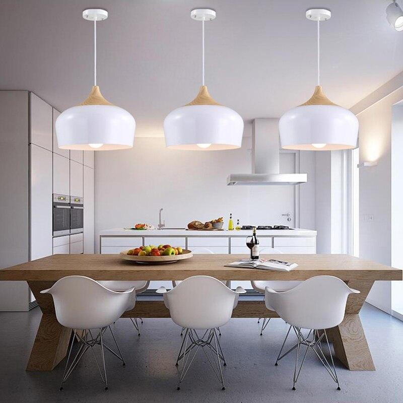 US $56.9 48% OFF|White Pendant Light Vintage Industrial Lighting Fixture  Kitchen Modern LED Ceiling Lamp Living Room Kitchen Antique Pendant Lamp-in  ...