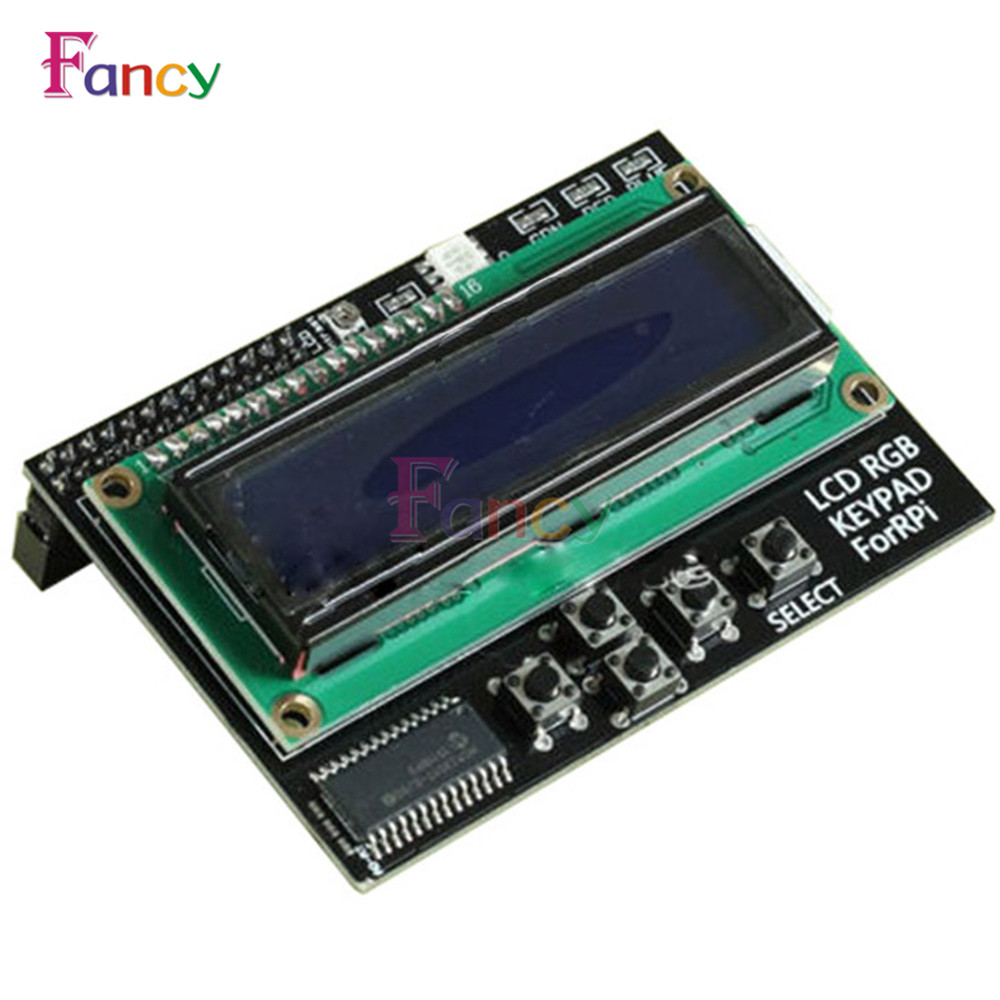 I2c Iic 16x2 Rgb Lcd Display Shield 1602 Blue Backlight For 2x16 162 16 X 2 Module Arduino Raspberry Orders Interface Pi Plate With Led Keypad Expanding Board