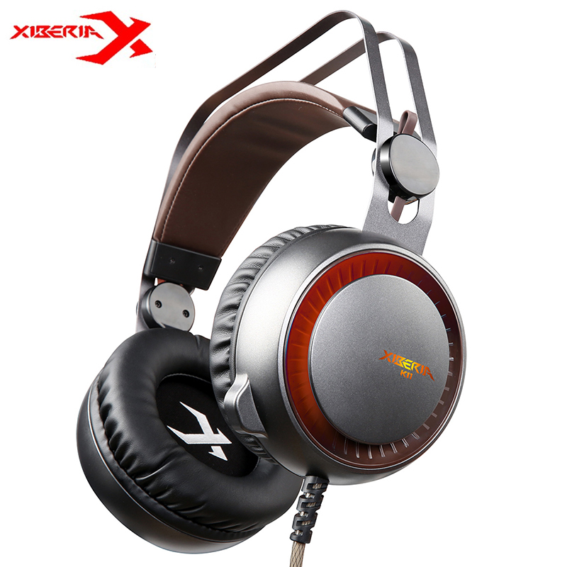 XIBERIA K11 USB Gaming Headphones Deep Bass Stereo Surround Over Ear LED Light Headsets With Microphone For PC Laptop Gamer g925 high quality gaming headset studio wire earphones computer stereo deep bass over ear headphone with microphone for pc gamer