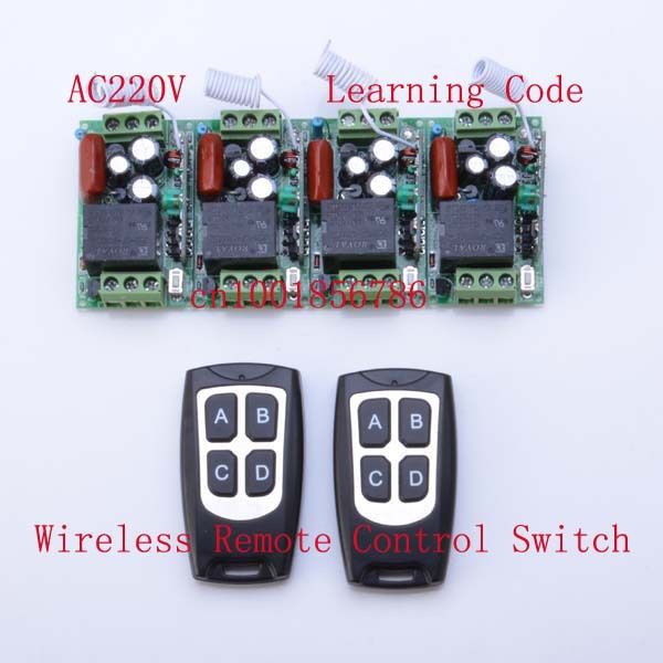 220V 1CH 10A 4Receivers(Mini size)+2Transmitter(Waterproof) RF Wireless Remote Control Power Switch System For Home Smart 2 receivers 60 buzzers wireless restaurant buzzer caller table call calling button waiter pager system