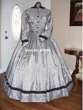 CUSTOM MADE 1860s Civil War Victorian Silver and Black Gingham Day Dress/ /Stage Dress/Event Dress/Holiday dressc Bridal Dress