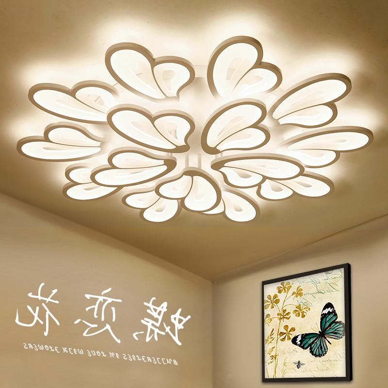 Modern LED Ceiling Lights for Foyer Dining room Bedroom Butterfly flies with flowers indoor lighting ceiling lamp modern indoor lighting led ceiling lights creative acrylic plafondlamp ac85 260v ceiling lamp livingroom bedroom kitchen foyer