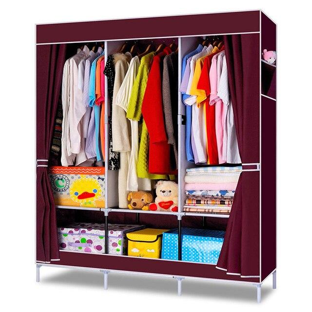 Dormitorio Simple ropa armario combinación no tejido tela de gran ...