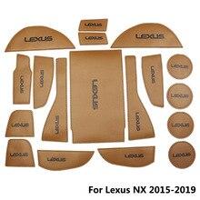 Модный Автомобильный Дверной паз коврик из микрофибры для Lexus ES 2013-2017 NX 2015-2019 Нескользящие подстаканники межкомнатные двери колодки подставки